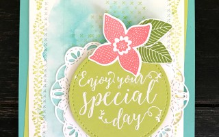 Stitched All Around Special Day Watercolor Card