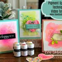 Stamping Sunday Blog Hop Pigment Sprinkles or Inked Background