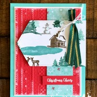Snowfront Scene Building Card