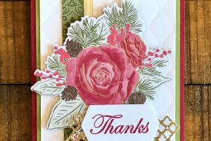 Christmas Rose Bundle card