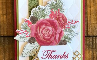 Christmas Rose Bundle card