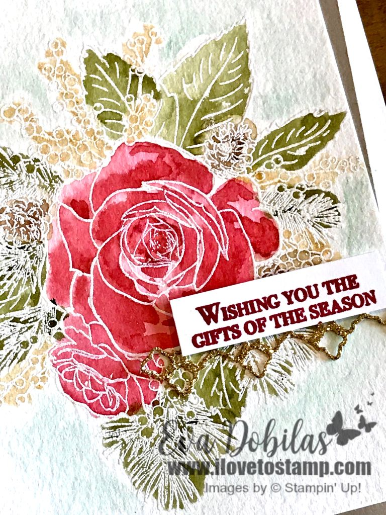 watercolor christmas Rose cards