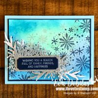 Sponged Background Frosted Foliage Card