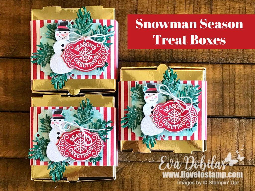 Snowman season treat boxes