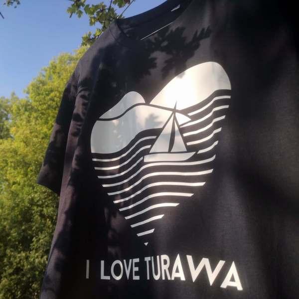Koszulka meska I Love Turawa granatowa