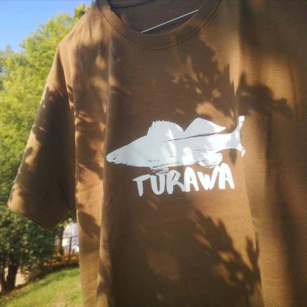 Koszulka meska sandacz Turawa krol Turawy I Love Turawa zielona