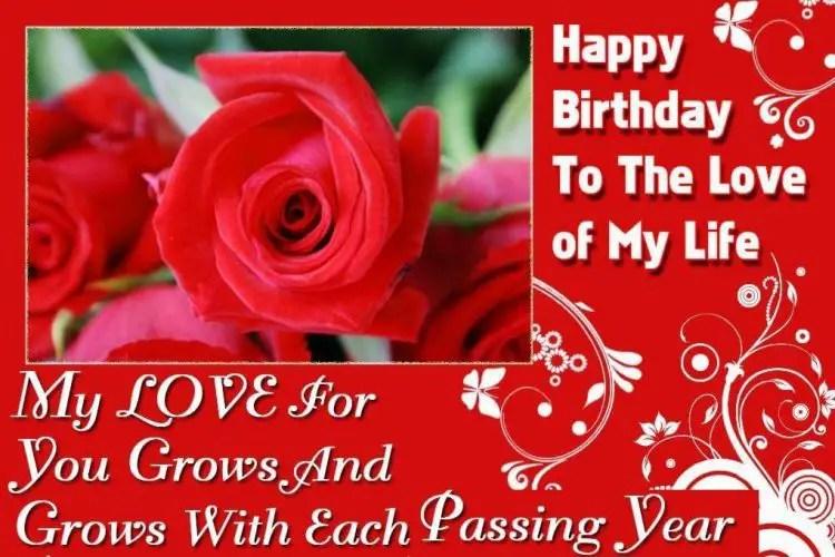 romantic birthday message for