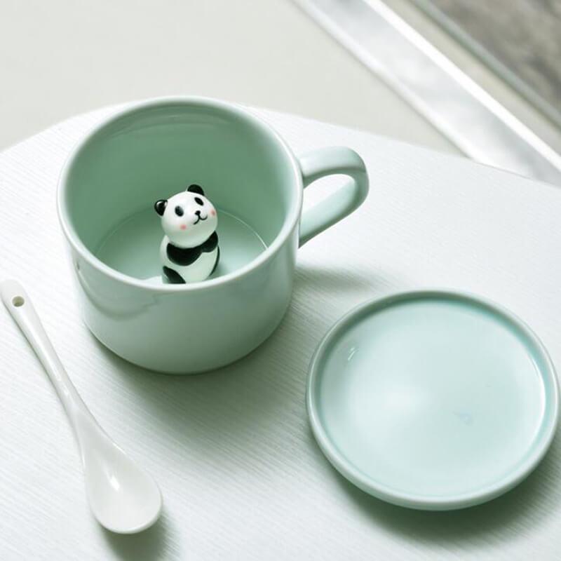 Ceramic Coffee Mugs With Animals Inside  Animal Surprise Mugs