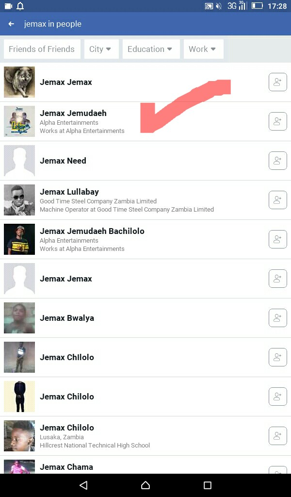 Jemax Alerts Fb Users Of Multiple Fake Fb Accounts Using His Name