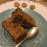 Torta di pane e cioccolato all'amaretto