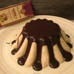 Bavarese di pere coscia con fonduta di cioccolato di Modica al Marsala