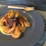 Timballo di riso integrale Ermes con mazzancolle e crema di curry piccante