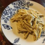 Caserecce gorgonzola, noci e mandorle