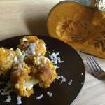 Canederli  di zucca con cuore filante di pecorino al tartufo