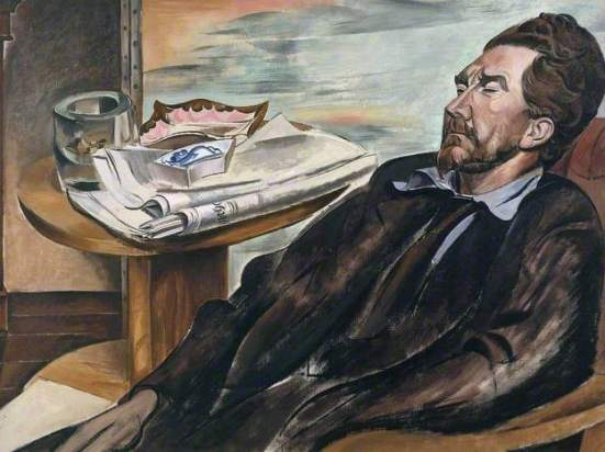 Percy Wyndham Lewis - Portrait of Ezra Pound, 1939, oil paint, 76,2 x 101,6 Tate, Londra. Bought in 1939.