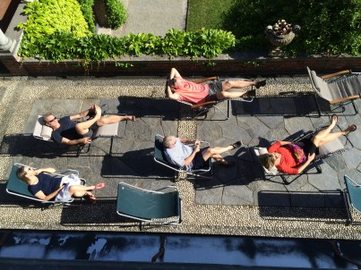 Afternoon siesta on the south terrace