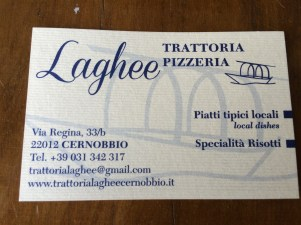 Great pizza and other food here - on the main road in Cernobbio