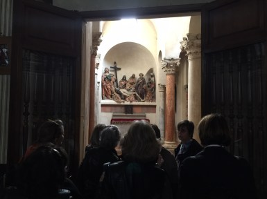 Inside San Satiro church