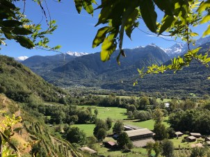 View from Fracia in Teglio, Valtellina