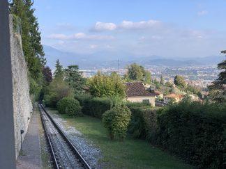 Funicular from Bergamo Citta Alta to to San Vigilio
