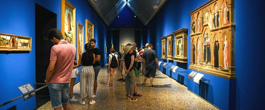 One of the halls visitable with Brera Virtual museum tour