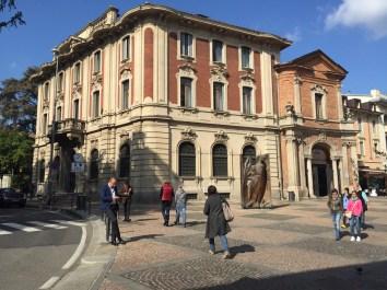 Beautiful buildings in Monza