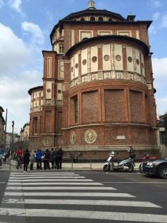 The side of Santa Maria delle Grazie church