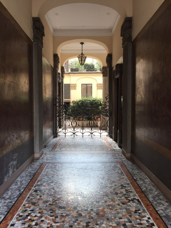 One of many beautiful doorways and entrances along the streets in Milan