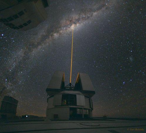 raggio laser VLT