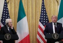 trump e mattarella, conferenza
