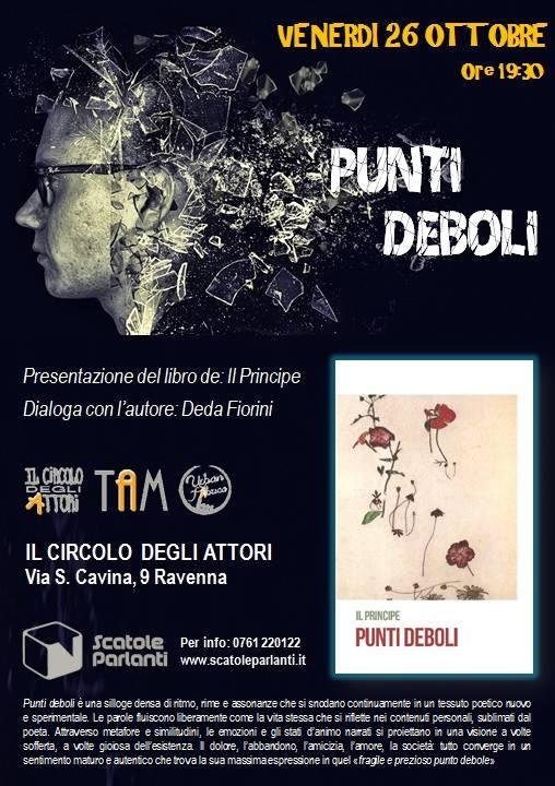 Reading Punti Deboli 26 ottobre Ravenna Circolo degli Attori il Principe