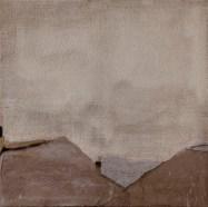 MARILINA MARCHICA PaperLandscape# - 2016 - Tecnica mista e collage su tela di juta - 70x70