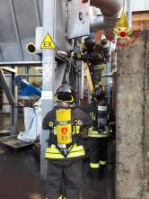 incendio pompieri ceriano silos 05102018