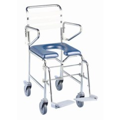 Shower Chair With Wheels And Removable Arms Folding Song Commode - Mobile Self Propelled In Sydney Nsw