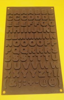 Silikonform Buchstaben