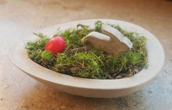 Vom Hasen und dem roten Ei in klein