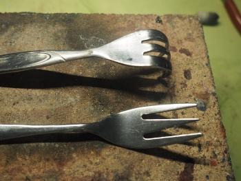 Kuchengabel1 und Kuchengabel2