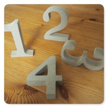 Zahlen aus MDF (ca. H 8cm, T 1,5 cm)