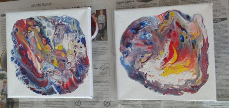 4 Farben - einfache Acrylfarben