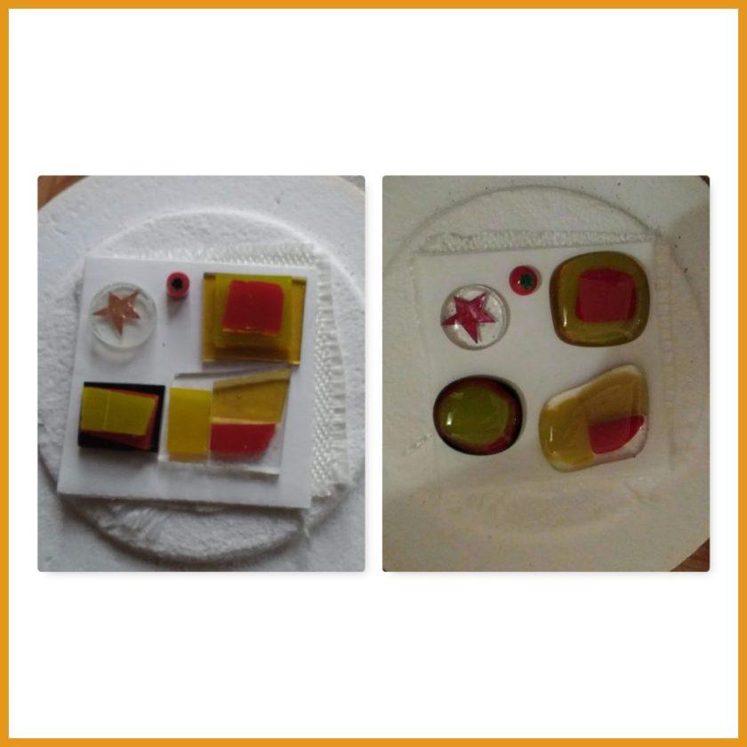 Versuche mit farbigem Glas 2