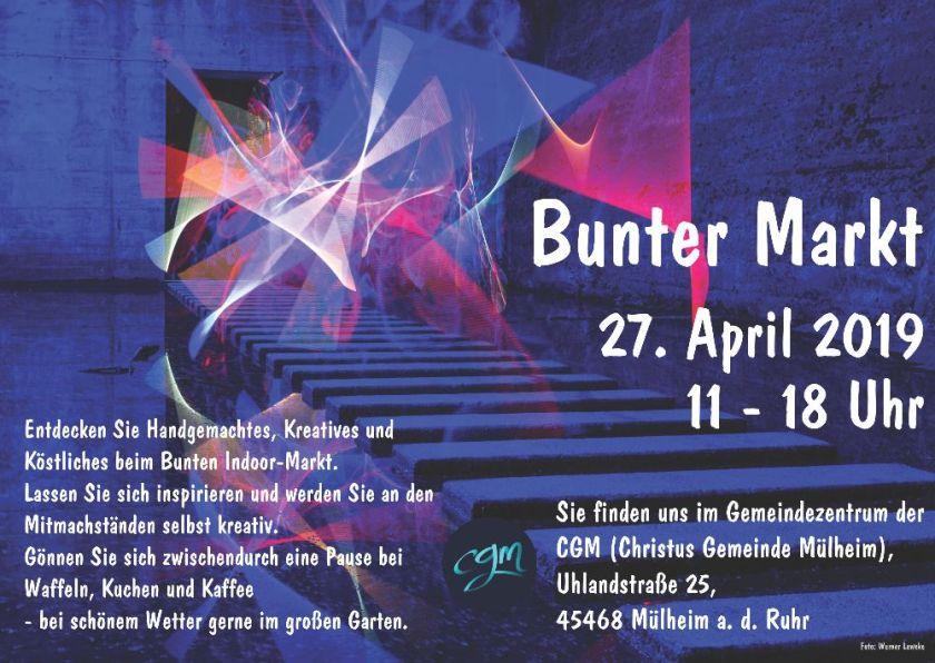 Bunter Markt Mülheim 27.04.2019