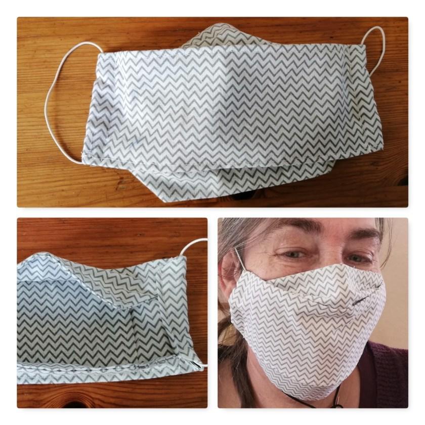 Gesichtsmaske nach der Anleitung von Anna's Nähschule