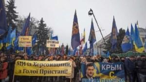 """Corteo a Sebastopoli contro i """"fascisti di Kiev"""""""