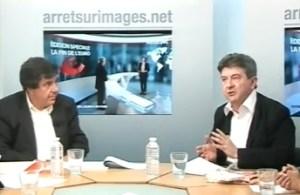 Dibattito tra Jacques Sapir ( a sinistra) e Jean-Luc-Melenchon