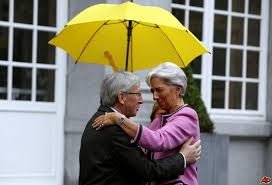 Junker con la Lagarde