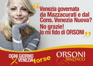 Poster ragazza per Orsoni