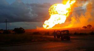 Gas pipeline fire Texas