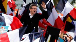 Jean-Luc Melenchon of the French far left Parti de Gauche and candidate for the 2017 French presidential election, attends a political rally in Toulouse, Southwestern France