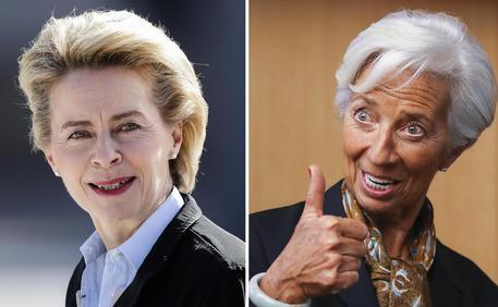 combo Ursula von der Leyen  - Christine Lagarde
