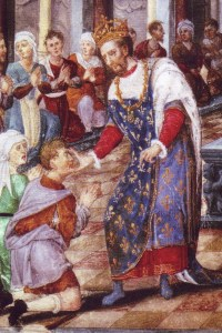 Enrico_II_di_Francia_che_cura_gli_scrofolosi_(miniatura_XVI°)